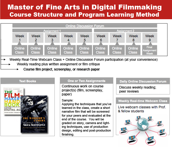 How the Anaheim University Online MFA in Digital Filmmaking program works