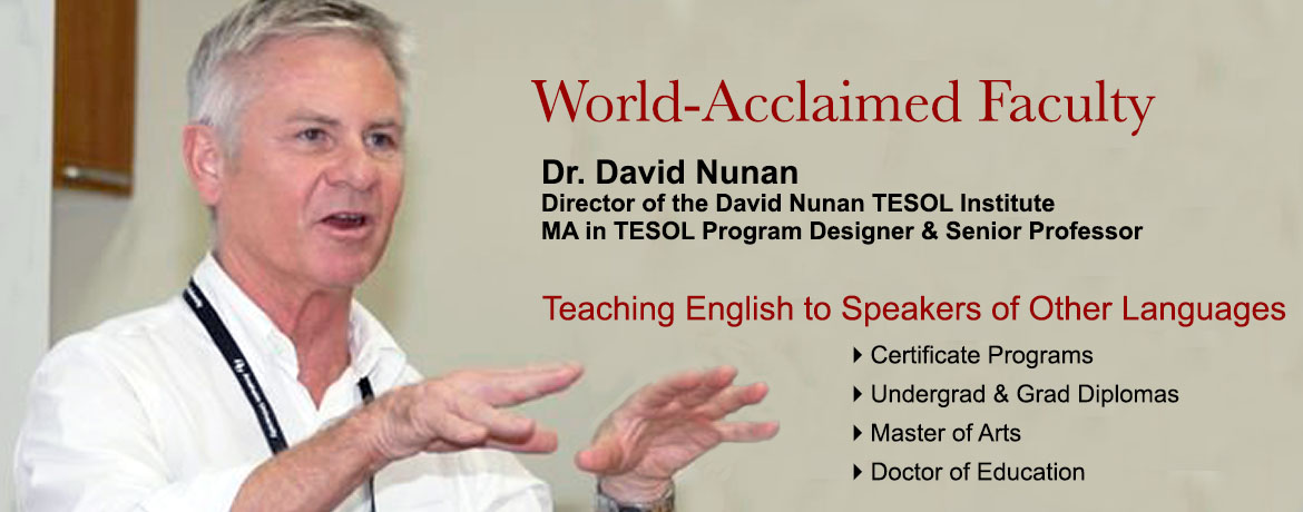Front Page Slider - TESOL faculty Nunan